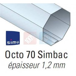 Adaptations moteur simu-Somfy Ø50 - Tube octo 70 simbac