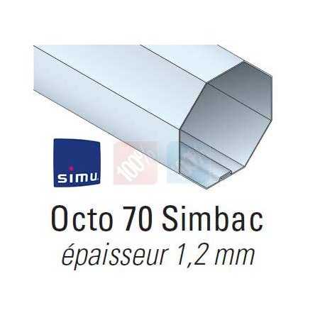 Adaptations moteur simu Ø50 - Tube octo 70 simbac