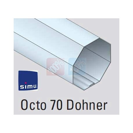 Adaptations moteur simu Ø50 - Tube octo 70 dohner