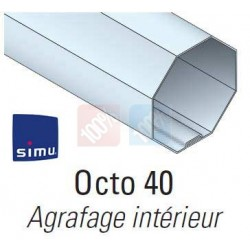 adaptations moteur simu Ø40 - Tube octogonal 40