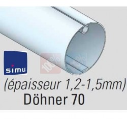 Adaptations moteur simu Ø50 - Tube Döhner Ø70 x 1,5