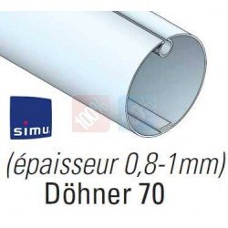 Adaptations moteur simu Ø50 - Tube Döhner Ø70 x 1mm