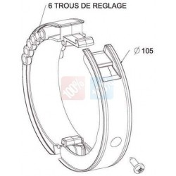 Bague BlockSur Porte de Garage sur tube ZF 80