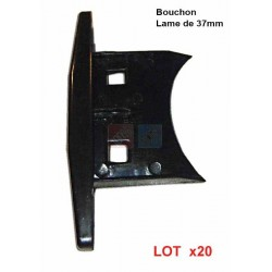 bouchon de lame 37mm de volet roulant aluminium 100 volet roulant. Black Bedroom Furniture Sets. Home Design Ideas
