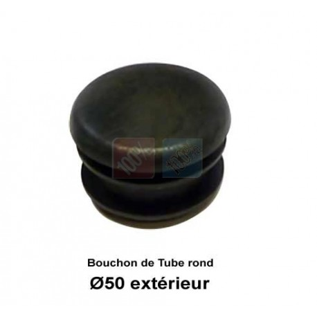 Embout PVC Cache tube rond 50mm Blanc