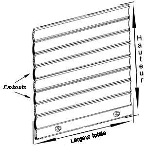 schéma pour mesurer votre tablier de volet roulant