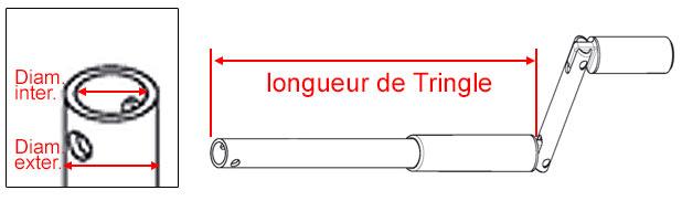 Manivelle de volet roulant et tringle oscillante 100 - Application pour mesurer une piece ...