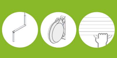 Le volet roulant manuel rénovation est disponible à manivelle, à enrouleur à sangle, ou à tirage direct