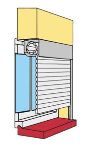 Sous linteau (tableau) – Enroulement Interieur